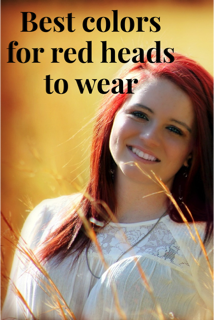 best clothing colors and make-up colors for red heads