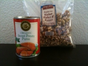 sweet potato and walnuts