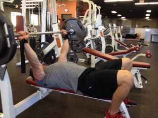 Bobby Cox lifting weights
