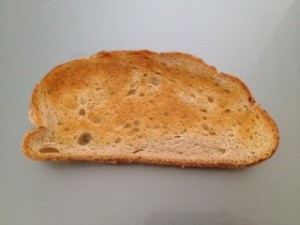 perfectly toasted bread