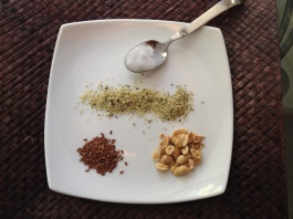 healthy fats coconut oil, hemp, flax, nuts