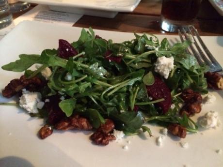 beet, walnut and feta salad