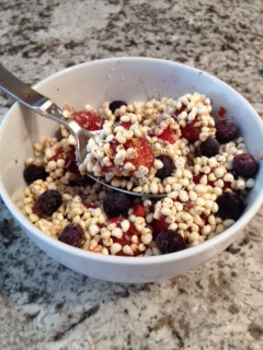 gluten-free vegan berry millet breakfast bowl