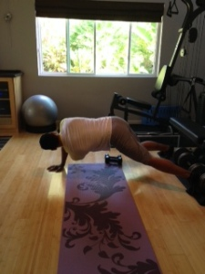 Hervin plank with shoulder rotations step 2