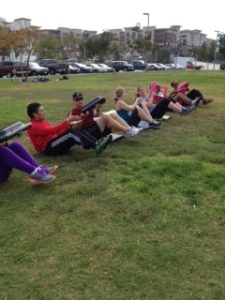 bootcamp ab twists with risers