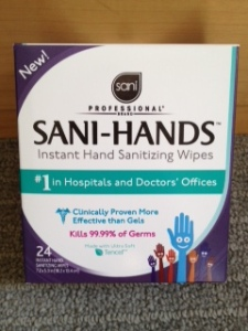 hand sanitizing wipes