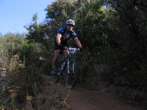 Steve mountain biking