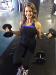 curls at World Gym