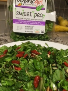 goji sweet pea salad