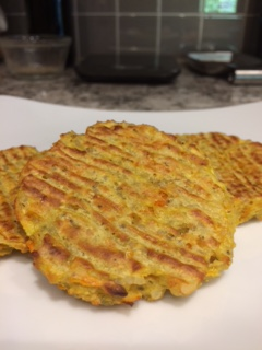 baked zucchini pancakes