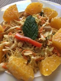 light vegan coleslaw with tahini dressing recipe