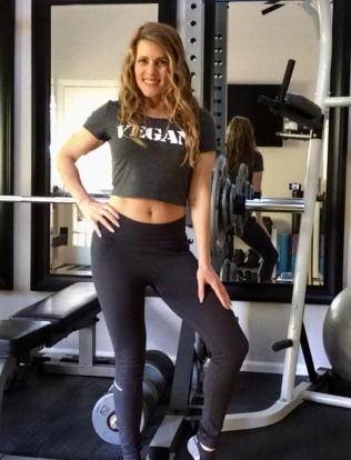 vegan T-shirt worn by Fit Girl