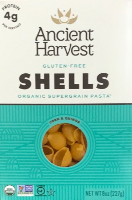 gluten free pasta sheels by Ancient Nutrition