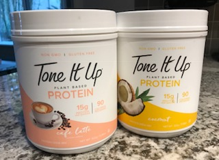 Tone it up Cafe Latte and Coconut Protein Powders