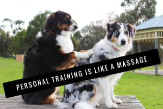 fitness training is like a massage