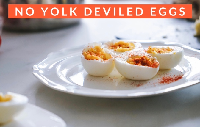 vegan deviled egg yolks