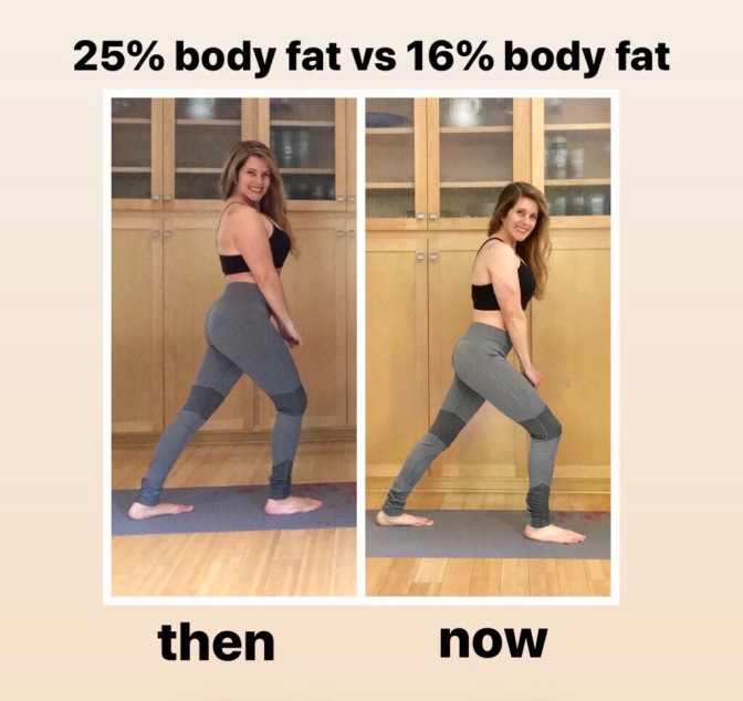 what 15% bodyfat and 25% bodyfat looks like on a woman
