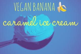 weight-loss vegan caramel ice cream
