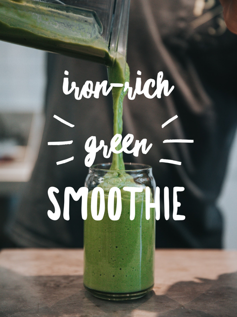 iron-rich green smoothie for anemia